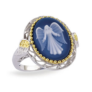 The Concorde Collection Guardian Angel Cameo Ring Azure