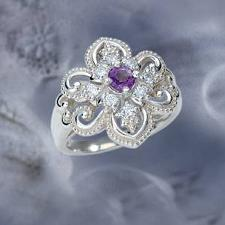 The Concorde Collection Queen Anne S Lace Ring A Fully Faceted