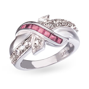 The Concorde Collection Ribbons Of Hope Ring Genuine
