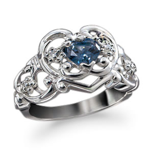 The Concorde Collection Royal Tiara Heart Ring An