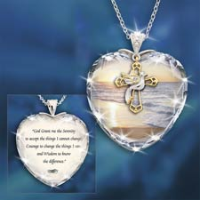 The concorde collection serenity prayer crystal pendant genuine view matching items in this set serenity prayer mozeypictures Images