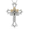 Believe In Miracles� Jeweled Cross Pendant