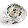 Emerald Isle Celtic Cross Ring