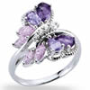 Flight of the Jeweled Butterfly Ring
