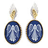 Guardian Angel Cameo Earrings