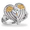 Guardian Angel Wings Heart Ring