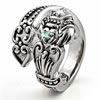 Irish Claddagh Spoon Ring