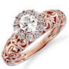 """Love Grows"" 1 Carat Jeweled Engagement Ring"