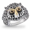Enchanted Silver Owl Ring