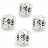 Silver Plated Charm Spacer Beads