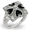 Victorian Hearts And Flowers Diamond Ring