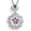 Violets In The Snow Pendant