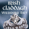 Irish Claddagh Wedding Set