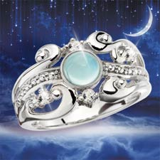 Evening Shadows Moondance Ring