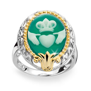 Eternally Yours Claddagh Cameo Ring