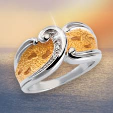 Footprints in the Sand® Diamond Ring