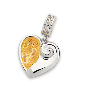 """Footprints in the Sand®"" Charm"
