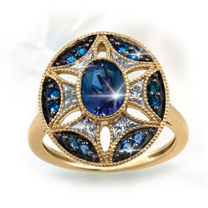 "Star Of Paris…. ""ÉToile Parisienne"" Ring"