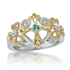 Irish Blessing Faith, Love, & Good Fortune Ring