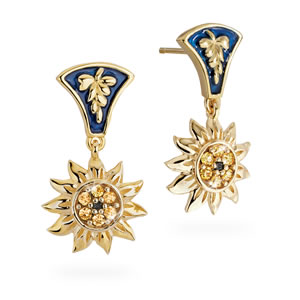 Jeweled Sunflower Earrings