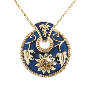 Jeweled Sunflower Pendant