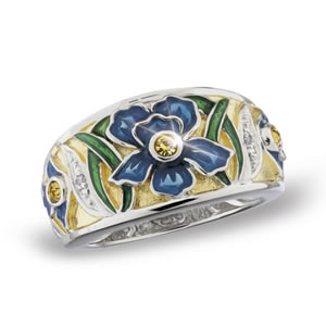 Jeweled Iris Ring