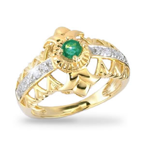 Jewels of Spring Solid Gold Ring