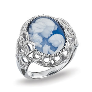 Mother And Child Cameo Ring