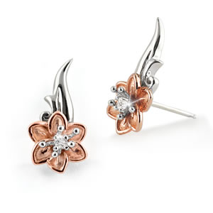 "Miracle Of Hope Floral ""Climbing"" Earrings"
