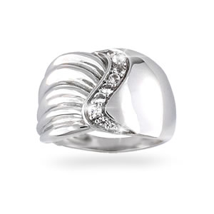 Nouveau Flair Sterling Silver Ring