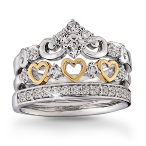 """Queen Of Hearts"" Stacking Ring Set"