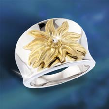 Solar Flair Diamond Ring