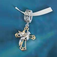 Serenity Prayer Cross & Dove Charm