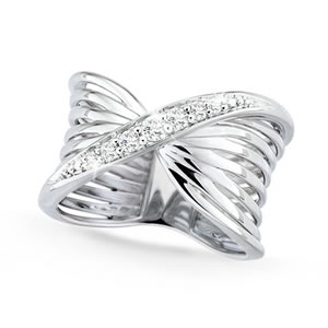 Nouveau Twist Silver Ring