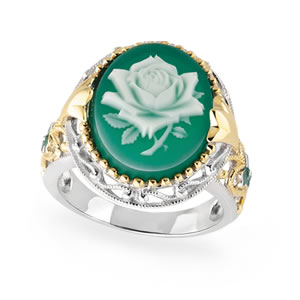 My Wild Irish Rose Cameo Ring
