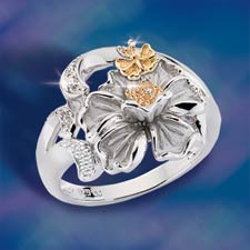 The Concorde Collection Amazing Grace Ring White Topaz Sterling