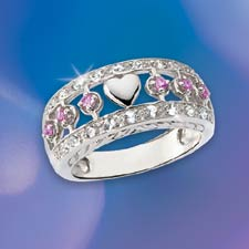 The Concorde Collection Circles Of Love Ring Pink
