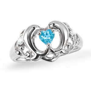 The Concorde Collection Dolphin Heart Ring A Delicate