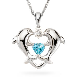 The Concorde Collection Dolphin Heart Diamond Pendant A