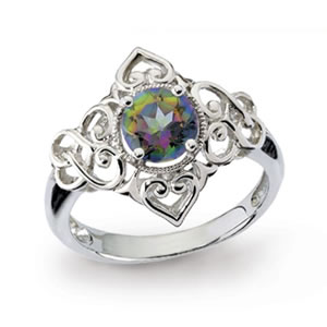 The Concorde Collection Mystic Fire Love Knot Ring