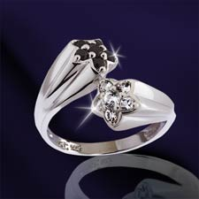 The Concorde Collection Shooting Stars Ring Black