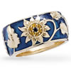 Jeweled Sunflower Ring