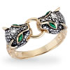 Jeweled Panther Ring