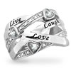 Live, Laugh, Love Ring