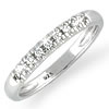"""Love Story"" White Topaz Wedding Band"