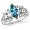 London Blue Topaz Marquise Ring