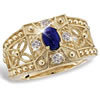 Treasures Of Pompeii Blue Lapis Ring