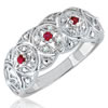 Ruby Radiance Trilogy Ring