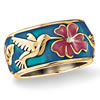 Small Miracles Enameled Hummingbird Ring