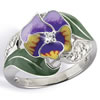 Thoughts of Love Pansy Ring